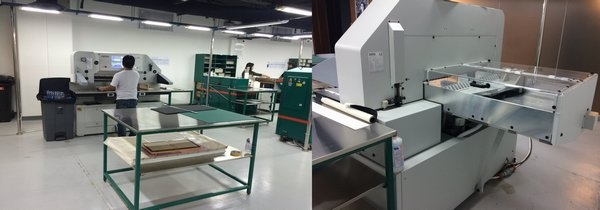 Option for Small format cutting requirements: Successfully installed High-speed cutter Senator E-Line 78 PCC from Schneider Senator SSB GmbH-Germany at Al Bahar Al Bhumii