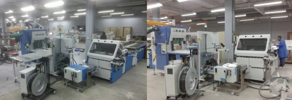 Global Graphics INT-Kuwait successfully installed 2x Horizontal log stacker HP 600F from RECMI Industries – France at Ministry of Information-Kuwait